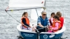 Brownies learn to sail in Somerspirit dinghy