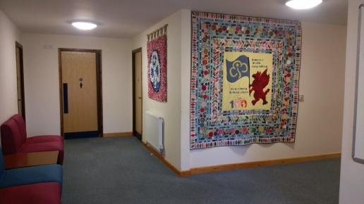 Banners in the bedroom corridor