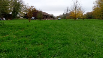 View of Somermead Lodge from the site, showing grounds