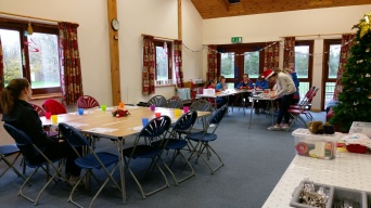 The main hall in use