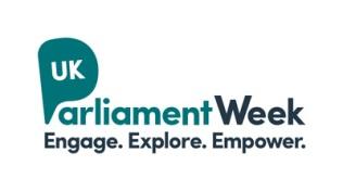 UK Parliament Week Logo. Engage. Explore. Empower.