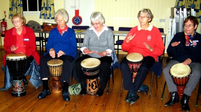 Drumming session