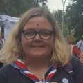 Photo of Hannah Kitto in uniform with international neckerchief