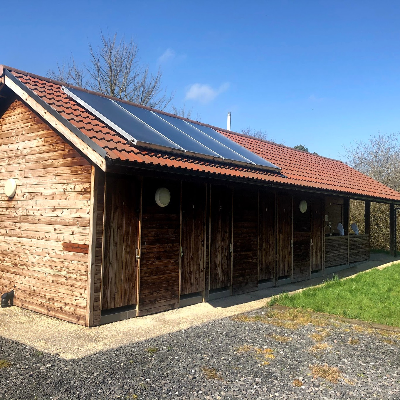 Toilet block and amenities at Somermead, Outdoor Camping and Activity Venue