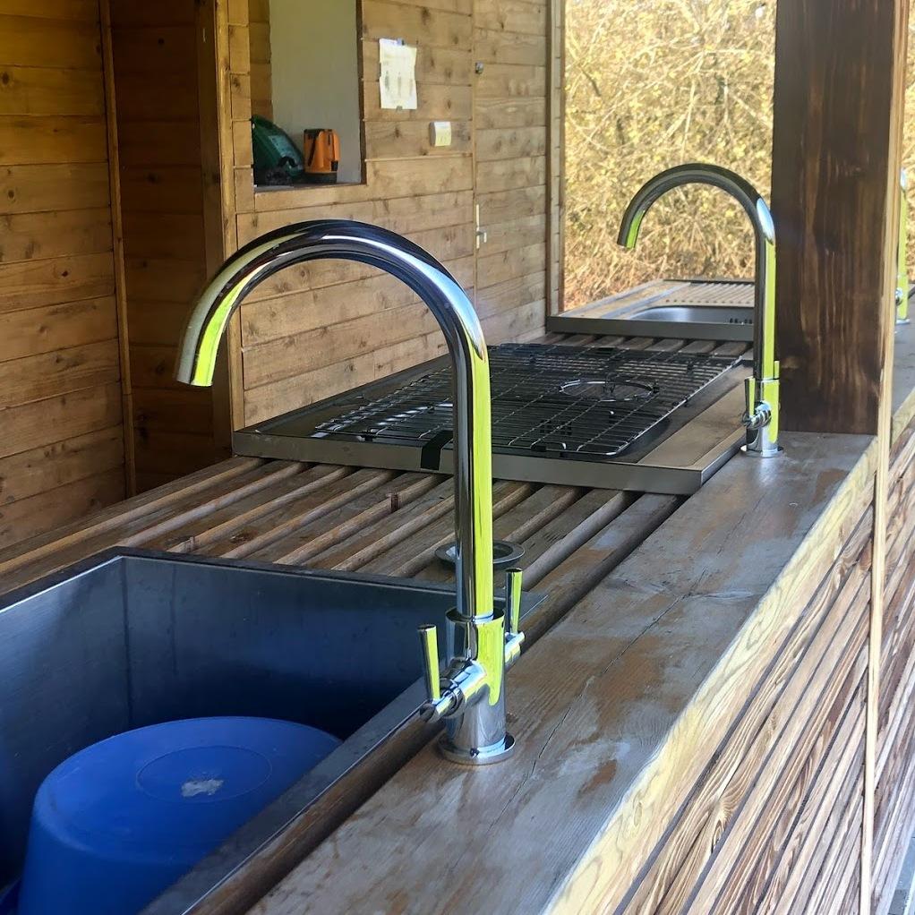 Washing up facilities at Somermead, Outdoor Camping and Activity Venue