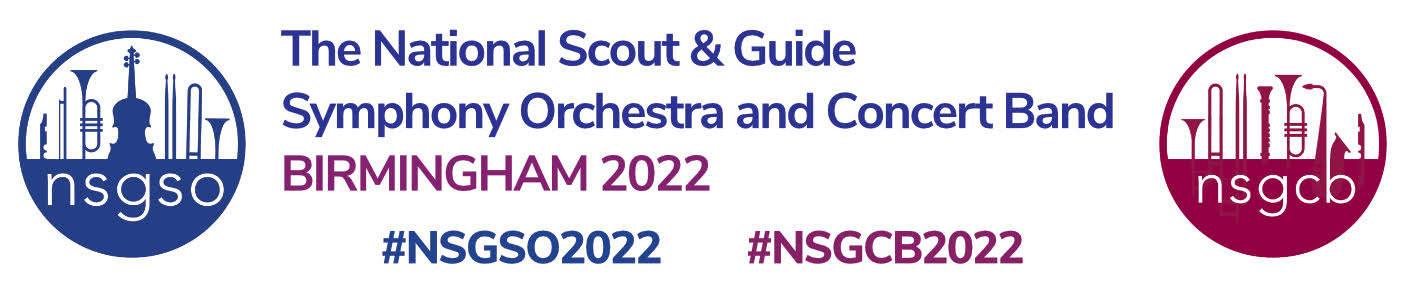 The National Scout & Guide Symphony Orchestra and Concert Band Birmingham 2022 Logo